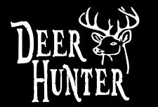 Deer Hunter Decal with buck head hunting car truck window vinyl sticker graphic