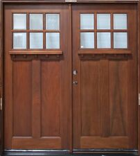 Pre hung solid wood double french exterior door 5 ft for Double hung exterior french doors