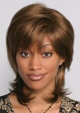 THORA WIG BLACK BROWN BLONDE AUBURN 70'S WOMAN LONG STRAIGHT SHAG BOB WIG 8873
