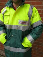 Ambulance Paramedic First Responder Hi Viz Jacket Reflective Badges choose text
