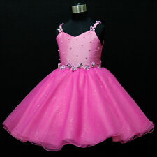 424 GTC HP875 Hot Pink Princess Party Flower Girls Dress SIZE 2-3-4-5-6-7-8-9-10