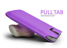 Lilac Pull Tab PU Leather Case Cover Pouch Slide In Sleeve