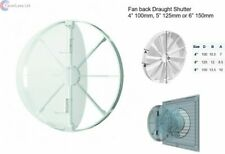 "4"" 100mm, 5"" 125mm, 6"" 150mm in-line extractor fan vent back draught shutter"