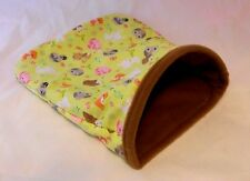 ALWAYS OPEN snuggle sack for your small pets guinea pigs, rats  Fabric choices!