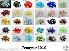 100Pcs Top Quality Czech Crystal Faceted Briolette Beads 6mm x 12mm Pick Colors