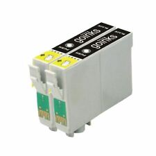 2 Black Ink Cartridges non-OEM to replace T0801 (TO801) Compatible for Printers