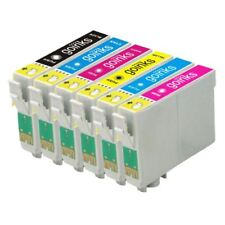 6 Ink Cartridges non-OEM to replace T0801 T0802 T0803 T0804 T0805 T0806 (T0807)