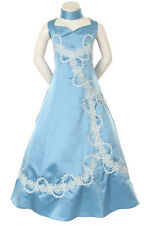 Girl National Pageant Wedding  Formal Party Dress O. Blue size 6 8 10 12 14 16