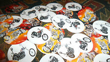 Pre Cut One Inch MOTORCYCLE BOTTLE CAP IMAGES!  MUST SEE