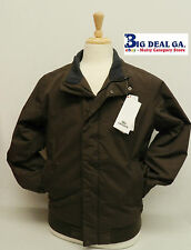 100% Authentic Lacoste BH7107 Chocolate Brown Padded Bomber Full Zip Jacket Nwt