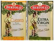 3 Liter Bertolli Extra Virgin Classico Pure Olive Oil Italy Tin Can - Free Ship