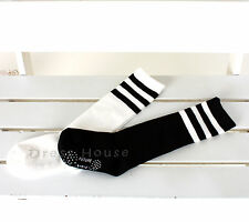 ★★★Kids Boys Gilrs White black Three Lines Knee socks- ALL SIZE-MADE IN KOREA★★★