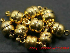 New Fashion 10 Sets Golden Plated Metal Magnetic Clasps Finding 8mm