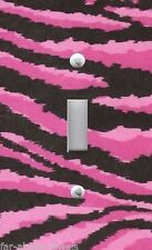 Light Switch Plate Switchplate & Outlet Covers JUNGLE ANIMAL ZEBRA PINK BLACK