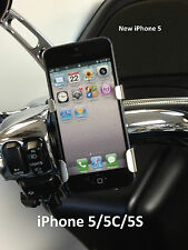 Fits All Harley Davidsons iPhone3G,4S,iPod,iTouch,Nano POLISHED Holder/cradle