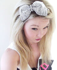 Diamante Crystal Rhinestone Bow Alice Hair Head Band