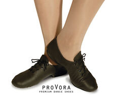 proVora Leather Split Sole Dance Jazz Shoes. All Sizes Childs & Adults NEW Black