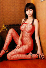 Sexy Lingerie Women bodystocking cotchless sleepwear for sex RED BLACK stocking