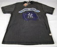 Mens Red Jacket MLB New York Yankees Metallica Grey T Shirt size Large