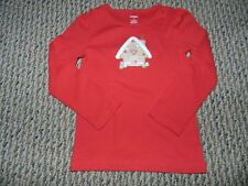 NWT Gymboree Cozy Cutie Red Gingerbread House Top 5 12