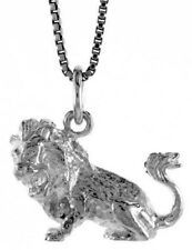 .925, Sterling Silver 14mm Tall  Zodiac Pendant for LEO *FREE SHIPPING*
