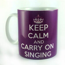 NEW KEEP CALM AND CARRY ON SINGING GIFT MUG CUP RETRO SINGER SING PRESENT FUN