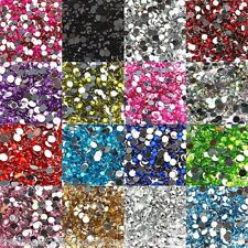 1000 RHINESTONES - CRYSTAL FLAT BACK ACRYLIC GEMS CRAFT NAIL ART MANY COLOURS