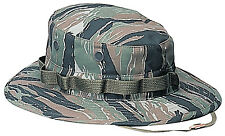 Camo Boonie Hat Rothco 5816 Tiger Stripe Military Style Boonie Hat Poly/Cotton