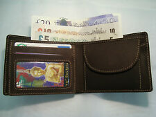 Gents Leather Wallet Quality Soft Leather Boxed WOODS