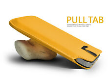 Yellow Pull Tab PU Leather Case Cover Pouch Slide In Sleeve