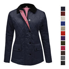 NEW WOMENS LADIES QUILTED PADDED BUTTON ZIP JACKET COAT TOP PLUS SIZES 8-20