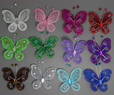 """10pc Nylon artificial Stocking Butterfly Wedding Decorations 2"""" Free Shipping"""