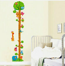 ANIMALS/Monkey Tr​ee Playing Home Wall Kids Height Stature Decor Stickers decals