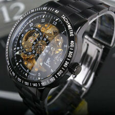NEW Men's Skeleton Automatic Mechanical Stainless Steel Case Classic Wrist Watch
