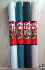 "Grip Liner Non Adhesive Drawer Cabinet Liner Set 2 Rolls U Pic Color 18"" x 4'"