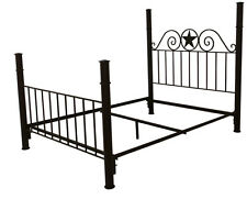 Rustic Iron Bed with Star