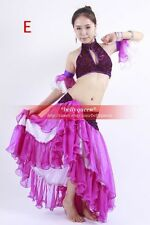 New Belly Dance Costume 4Pics Bra Skirt Armbands 5Colours avail.