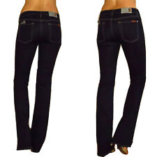 $159 Seven 7 For All Mankind Skinny Bootcut Sexy Stretchy Gummy Jeans Dark 24-28