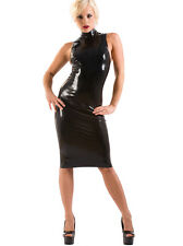 Latex Rubber Magnum Sleeveless Pencil Dress - Black Size S M L XL| Sexy & Fetish