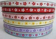 """3/8"""" 5 YARDS DAISY FLOWER FOR MOTHER'S DAY GROSGRAIN RIBBON - 6 COLORS U PICK"""