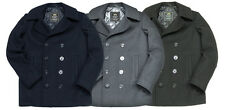 Alpha Industries US NAVY PEA COAT BLACK GRAY NAVY BLUE XS-5XL NWT Alpha