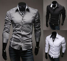 3 colors New Long Sleeve Top Design Men's Slim fit Casual Dress Shirts Free ship