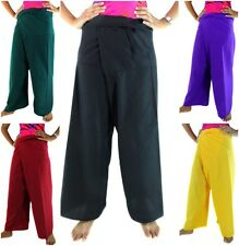 Unisex Thai Fisherman Pants Trousers Hippie Casual Yoga Pants Cotton Rayon Long