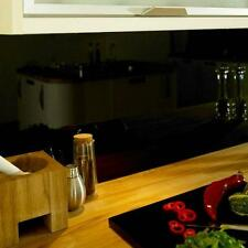 Modern High Quality black Glass Upstands & splashbacks made to fit your kitchen