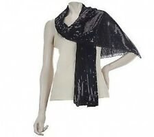 JOAN RIVERS Shimmering Sequin Evening Scarf  A222490