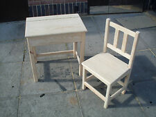 HAND CRAFTED CHILDRENS DESK AND CHAIR KIDS TABLE SEAT  HANDMADE QUALITY PINE