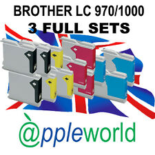 3 SETS of Ink Cartridges compatible with LC970 /LC1000 [not Brother original]
