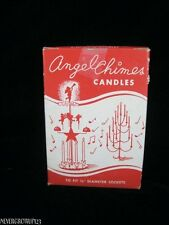 VTG MUENCH-KREUZER CANDLE CO SWEDISH ANGEL CHIMES CANDLES~RED~WHITE~UNUSED