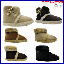 New Men's Coolers Comfortable Furry Ankle Boot Slippers Shoes Sizes Uk 7 -12