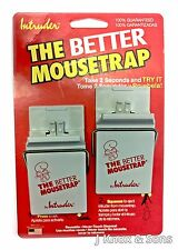 Intruder 2 Pack  Reusable Mousetrap Very Easy Set Spring Loaded 30% more force